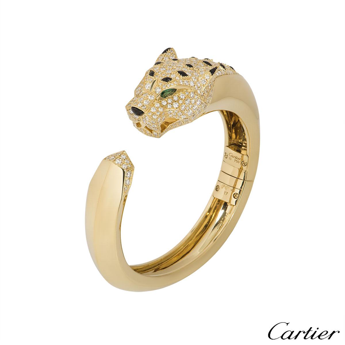 Cartier Yellow Gold Diamond Panthere De Cartier Bracelet N6035317